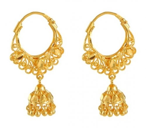 Traditional Gold Earrings Savory Jewellery